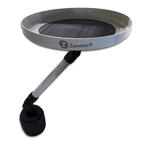 (Zone Tech Car Swivel Mount Holder Travel Drink Cup Coffee Table Stand Food Tray)