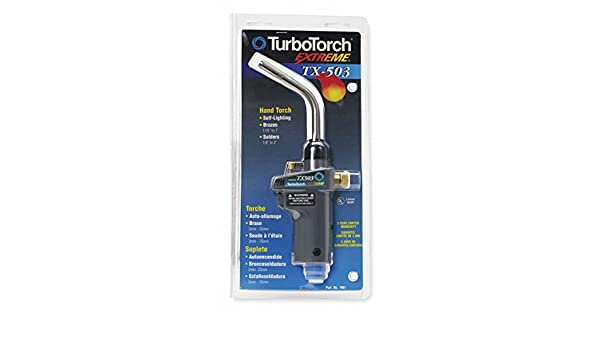 TURBOTORCH Hand Torch, MAPP/PRO, Self Igniting Ignitor, Swirl Flame Type: Amazon.com: Industrial & Scientific