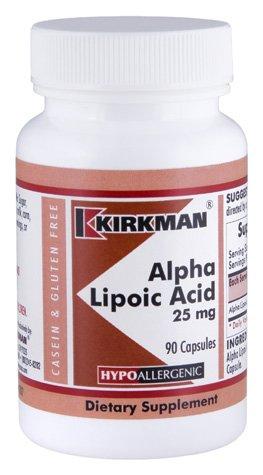 Alpha Lipoic Acid 25 mg Capsules - Hypo - 90 ct