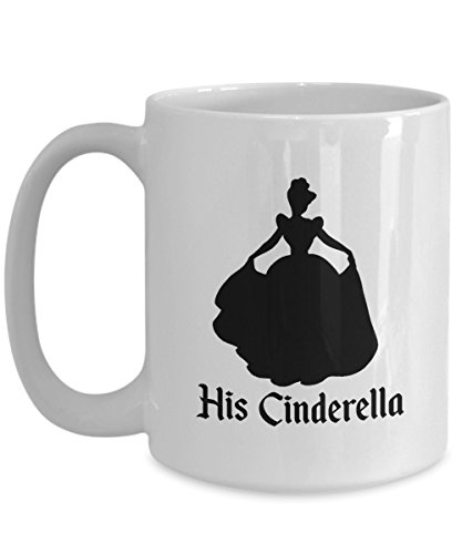 His Cinderella Mug Gift Her Prince Charming Castle Glass Slipper Ball Couple Matching Love Anniversary Coffee Cup