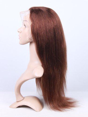 "Marian® Hair Front Lace Wig 100% Human Hair Straight #4 Medium Brown (14"")"
