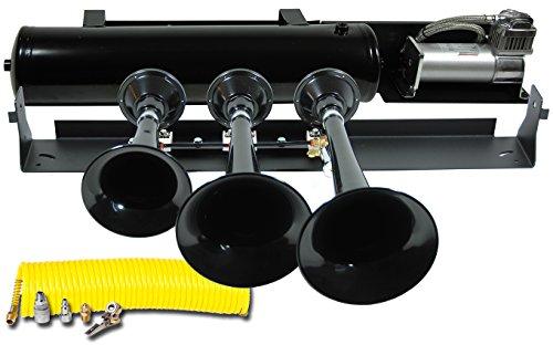 Kleinn Air Horns VELO-230 Beast 230 Train Horn Kit - Black
