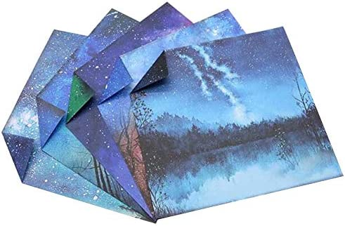 144枚のカラフルな正方形の折り紙のペーパークラフト折りたたみペーパー #20
