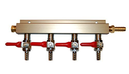 (4-way Air Co2 Distributor Manifold 5/16