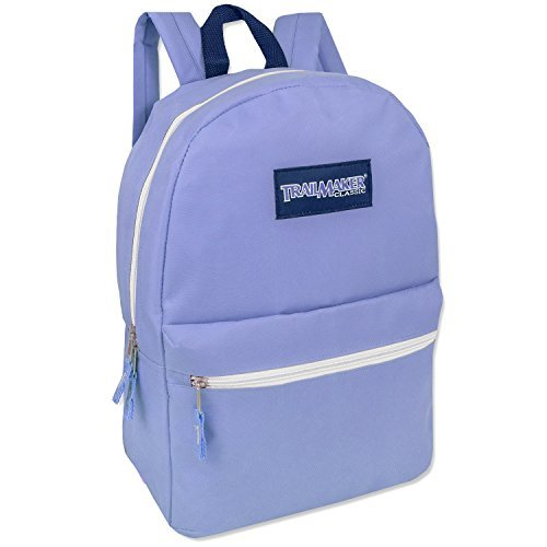 """17"""" Trailmaker Backpack Bookbag (Light Blue, One Size)"""
