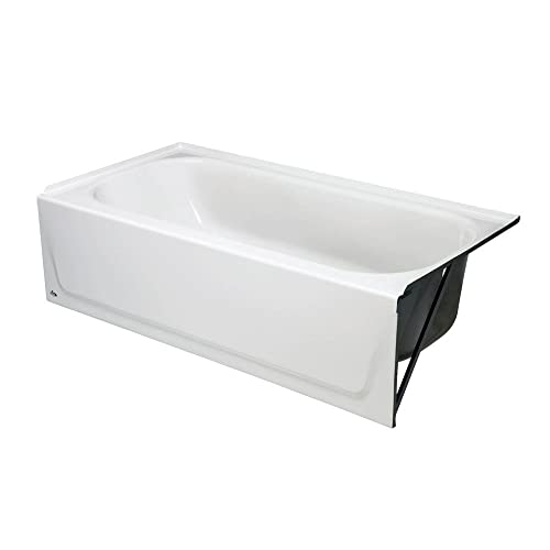 Bootz Maui Porcelain Enameled Bathtub with Right-Hand Drain, 5 Ft, White
