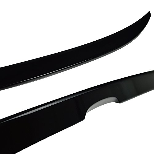 TuningPros WSV3-841 3.0mm Sunroof Moonroof and Out-Side Mount Window Visor Deflector Rain Guard Dark Smoke 5-pc Set