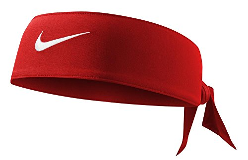Nike Women's Dri-Fit Head Tie 2.0, Varsity Red/White, One Size