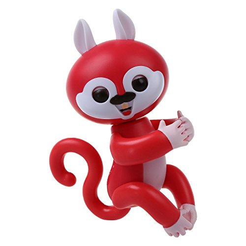 SODIAL Interactive Baby Finger Squirrel Electronic Toy for Children Red