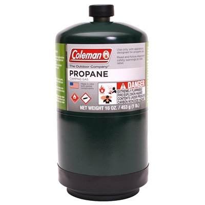 Coleman 333264 Propane Fuel Pressurized Cylinder, 16.4 Oz - Go Propane Stove