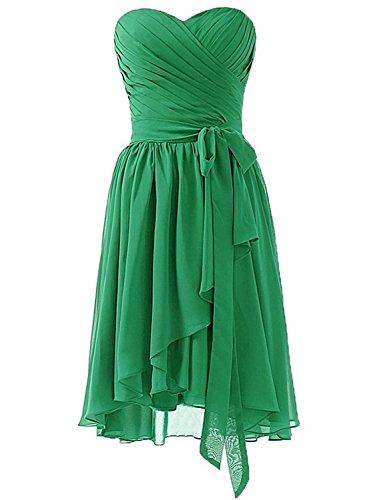 Promworld Damen A-Linie Kleid rot burgunderfarben Gr. 54, grün