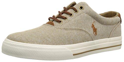 Polo Ralph Lauren Men's Vaughn Sneaker, Khaki, 11 D US -
