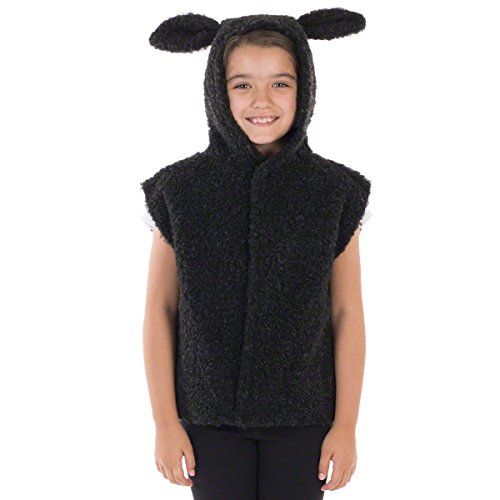 Black Sheep Costumes (Charlie Crow Black Sheep/Lamb Costume for Kids one Size 3-8)