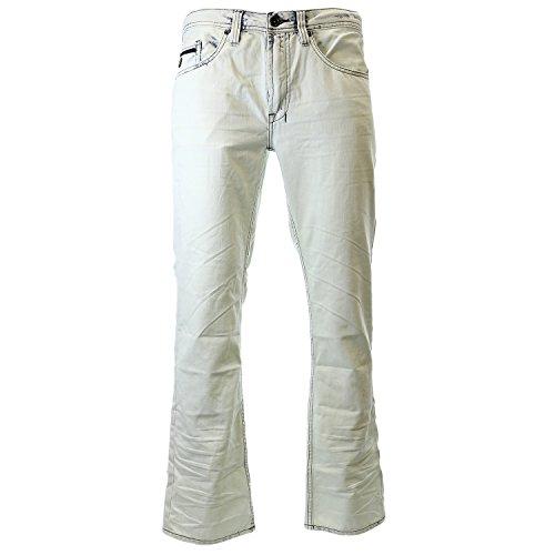 Buffalo David Bitton Men's Six Slim Straight Leg Jean in Lucas Blue, Marble Super Bleach, 32x32