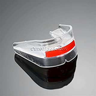CUSHY 1PC Double Side Boxe Sanda Mouthguard Indossare Brace Protesi Football Sport Dente Gum ShieldTeeth Protector Bucal Mouthguard