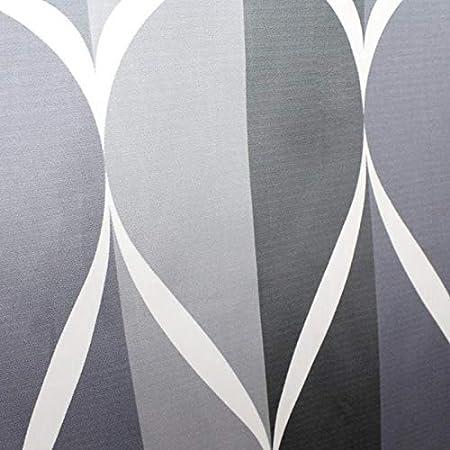 Salle de Bain dh/ôtel Anti Moisissure Convient pour la Famille Vommpe Etanche Rideau de Douche en Polyester Tissu Plaid Noir et blanc-150x180cm