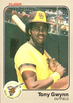 1983 Fleer Baseball #360 Tony Gwynn Rookie Card 1983 Tony Gwynn Rookie Card