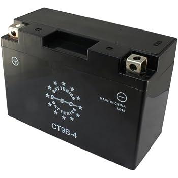 Amazon.com: EBC CTX9BS 12V 9Ah 105CCA Motorcycle Battery ...