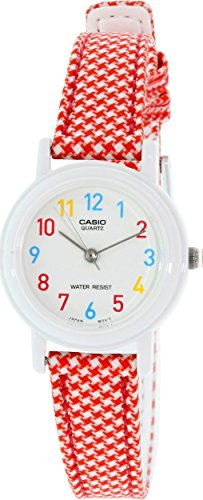 Casio Women's leather/cloth Red Analog Watch LQ-139LB-4B