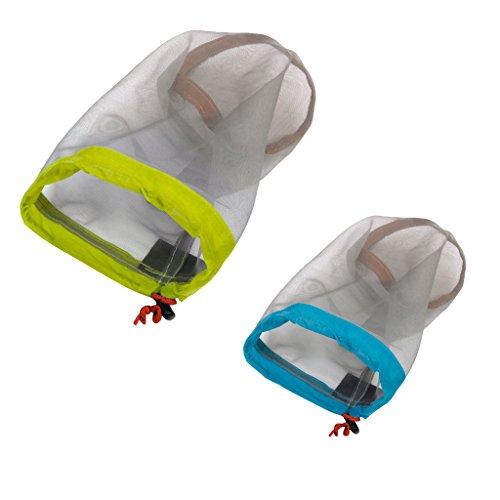 Travel Ultralight Mesh Drawstring Storage Bag Blue - 7