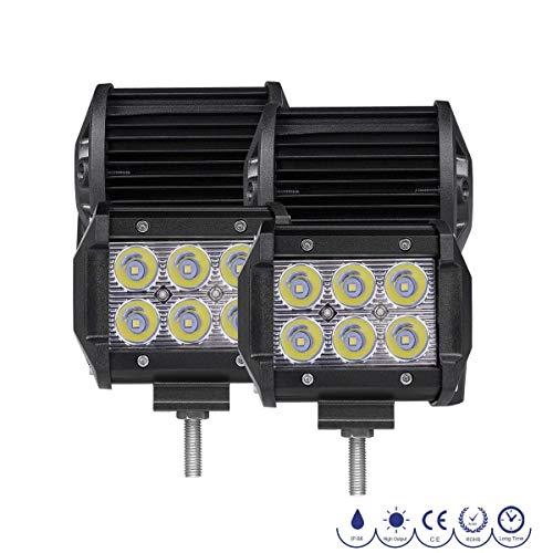LED Light Bars, Rigidhorse 2 Row 4pcs 4 Inch 1500LM Light po