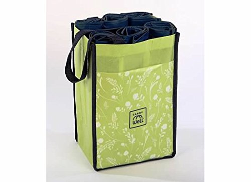 10 Large Reusable Grocery Shopping Bags in 1 Premium Compact Organizer. Durable, Stylish, Eco-Friendly Tote With An Assortment of Bags Best For Your Shopping Needs... A Chic Choice For Savvy Shoppers by CarryWell B01L4QMHW2 フローラル フローラル