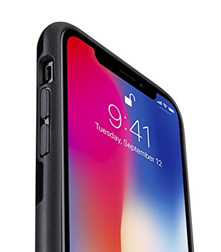 Melkco Kubalt Edelman Series Layer Apple iPhone X Support Wireless Charging Rugged Case, Shock Protection, Raised Bevel, Edge Protection, Military Grade Case - Black by Melkco (Image #3)