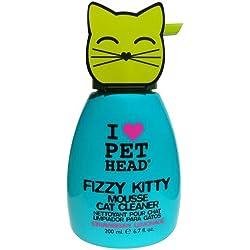 Pet Head Fizzy Kitty- Mousse para para mantener el pelo suave, brillante y sin nudos para gatos, aroma: Limonada de Fresa, 200 ml
