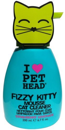 Pet Head Fizzy Kitty Strawberry Lemonade Mousse Cat Cleaner, 6.7 Ounce (Cat Massage Center compare prices)