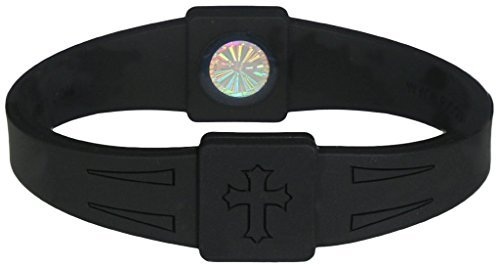 Rico's BioEnergy Band Black with Black Cross; Small - Rico Wristband