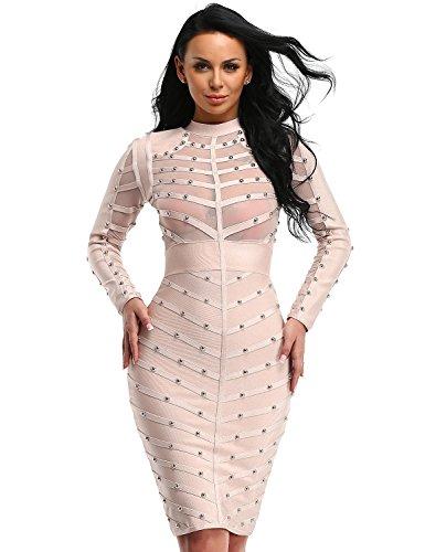 mesh bandage dress - 3
