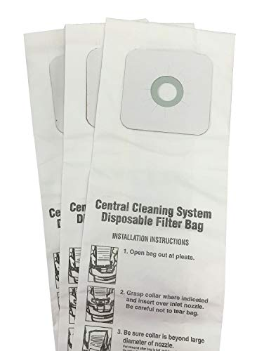 Replacement Parts Central Vac Bags for Nutone 6 Gallon CV350, CV352, CV353, CV450, CV653 3-Pack