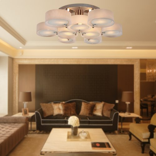 LightInTheBox Acrylic Chandelier with 9 lights Modern Flush Mount