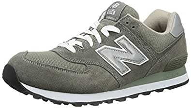 New Balance Men's ML574  Sneaker, Grey/Silver, 7 2E US