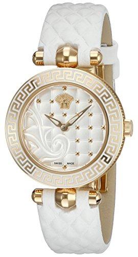 (Versace Women's VQM020015 Vanitas Micro Analog Display Swiss Quartz White Watch)