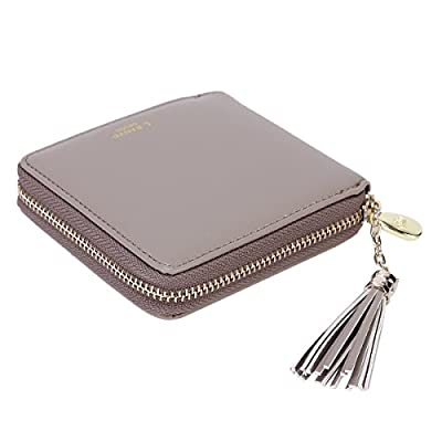 Damara Womens Practical Tassel Zipper Mini Coin Case Wallet
