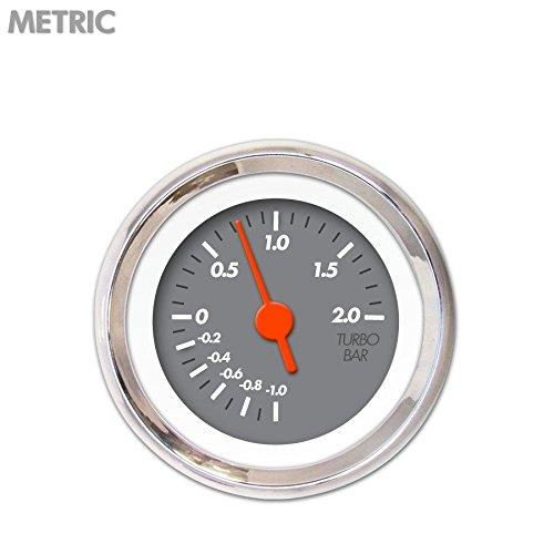 Orange Vintage Needles, Chrome Trim Rings, Style Kit DIY Install Aurora Instruments 6718 Marker Gray Metric Turbo Gauge