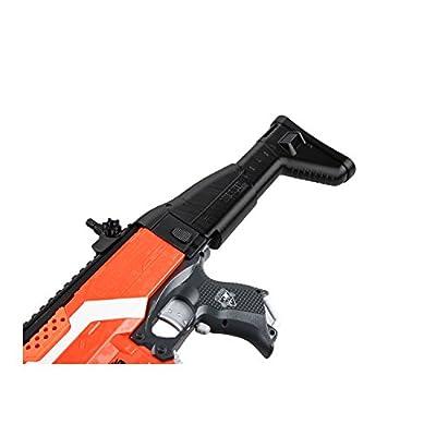 Worker F10555 3D Printing No.152 SCAR Foldable Shoulder Stock for nerf N-strike elite Color Black: Toys & Games