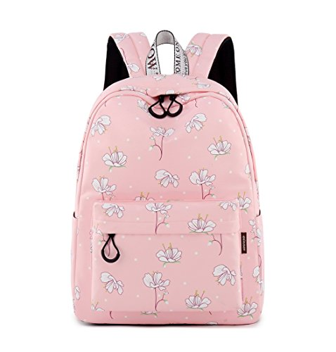 e6a64ee910 Acmebon Cute School Bags for Girl Women Stylish 15.6 Inches Laptop backpack  Travel Backpack Pink
