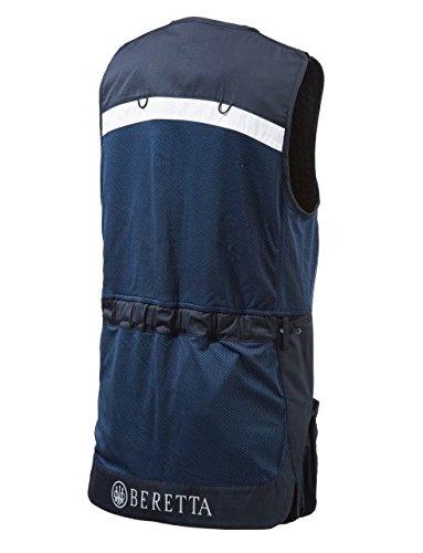 Beretta BEGT112T11300530XXL Men's Competition Shooting Vest, Navy, 2X-Large