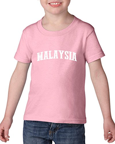 Ugo What To Do in Malaysia Travel Guide Deals Kuala Lumpur Map Flag Heavy Cotton Toddler Kids T-Shirt - In The Malaysia Store