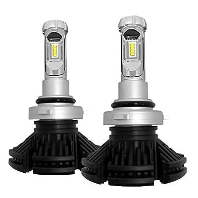 Huizen LED Headlight Bulbs Conversion Kit (Fog Lights/DRL) - Philips Zes Low Beam Fanless Replacement - w/ DIY Color Yellow/White/Blue (3000K/6000K/8000K) - 2 Yr Warranty