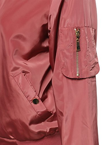 Dusty Pink Awoja0346 Da Donna Classico Bomber Awesome21 SZqOHZ