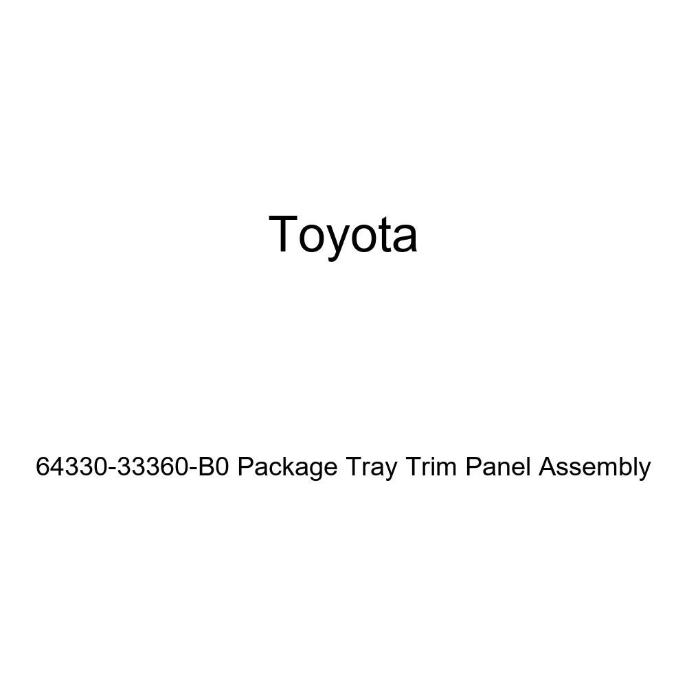 TOYOTA Genuine 64330-33360-B0 Package Tray Trim Panel Assembly