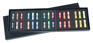 Jack Richeson 4280300 Richeson Signature Pastels Set of 30 Assorted Round Half Stick Pastels