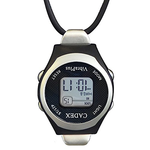 e-pill CADEX VibraPlus Fob Pendant Vibrating Digital Reminder 8 Alarm Watch