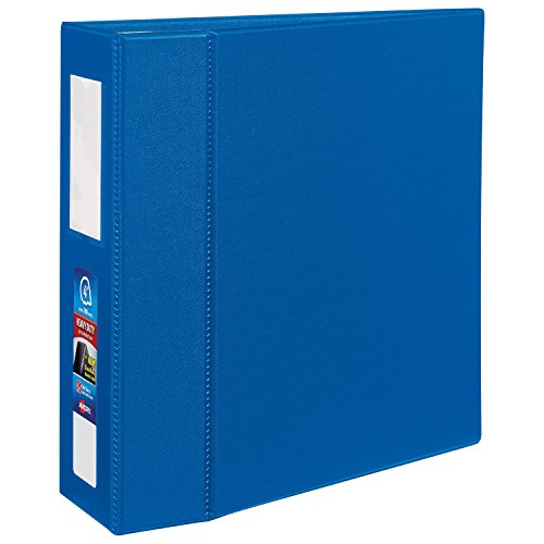 Avery Heavy-Duty Binder with 4-Inch One Touch EZD Ring, Blue, 1 Binder (21017)