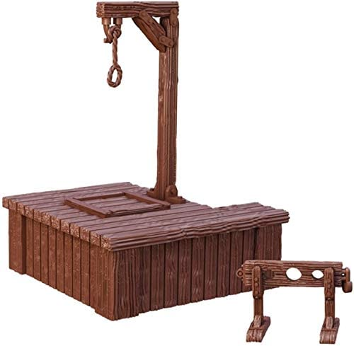 Mantic Games MGTC134 TerrainCrate Gallows Stocks Retail Exclusive , Multi