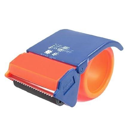 eDealMax portátil 2,5 Anchura del Rollo de Cinta adhesiva de dispensador cortador Azul Naranja