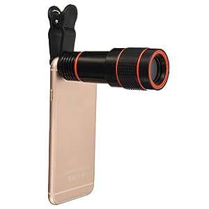 Phone Camera Lens Kit, Hizek 12X Universal Optical Zoom Lens Marco Lens Focus Telescope Camera Lens with Universal Clip for Iphone 6s/6/6 Plus/6s Plus / 5s, Samsung Galaxy 6 / S6 edge/S5, Note 5